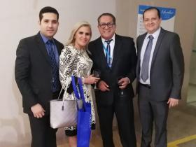 Sr. Alfredo Macías, Dra. Ingrid González, Dr. Jorge Alarcón y Sr. Hamilton Alava