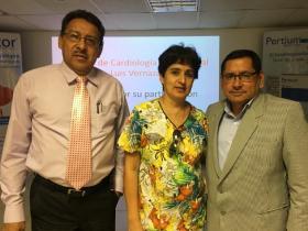 Dres. Javier López, Ana Obando y Ernesto Peñaherrera